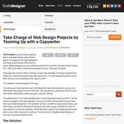 Take Charge of Web Design Projects by Teaming Up With a Copywriter