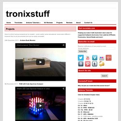 Projects - tronixstuff