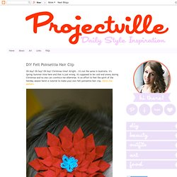 DIY Felt Poinsettia Hair Clip
