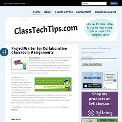 ProjectWriter for Collaborative Classroom Assignments