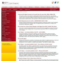 Six sigma - Zarządzanie Projektami - Project Management