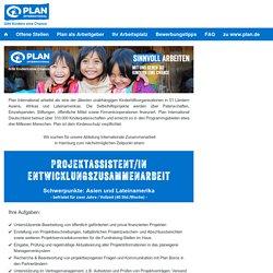 Stellenangebot Projektassistent/in Entwicklungszusammenarbeit bei Plan International Deutschland e.V. Jobportal