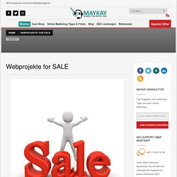 Projekte for SALE - Domain inklusive Content zum Verkauf