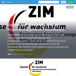 Vorteile der Verwendung einer Projektmanagement Firma Mieten (with image) · kmufoerderung