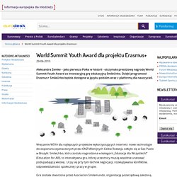 World Summit Youth Award dla projektu Erasmus+