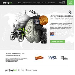 projeqted - dynamic presentations for the classroom
