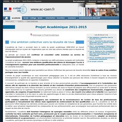 Projet Académique 2011-2015