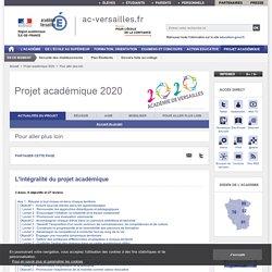 Projet académique 2020