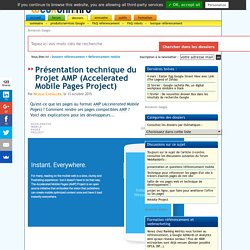 Le Projet AMP (Accelerated Mobile Pages Project)