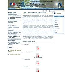 D.S.D.E.N. 74 -PAI - Projet d'Accueil Individualisé