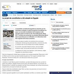 Le projet de constitution a été adopté en Egypte