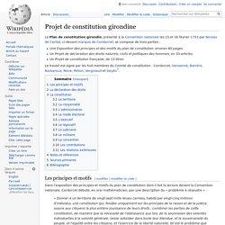 Projet de constitution girondine