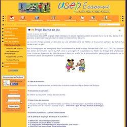 Projet Danse en jeu - Usep Essonne