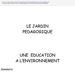 PROJET DE JARDIN PEDAGOGIQUE