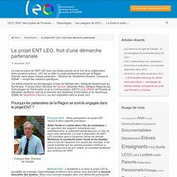 Le projet ENT LEO, fruit d'une démarche partenariale