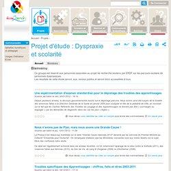 Projet d'étude : Dyspraxie et scolarité