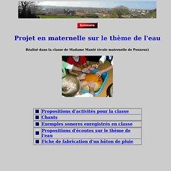 projet eau Maternelle