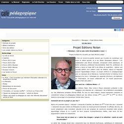 Projet Editions Nolan - Forum2012