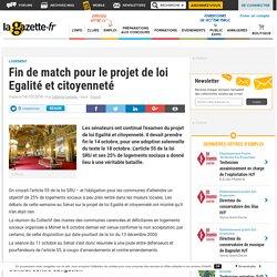 """Fin de match pour le projet de loi """"Egalité et citoyenneté"""". Delphine GERBEAU. La gazette des communes. www.lagazettedescommunes.com"""