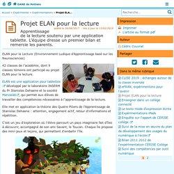 Projet ELAN pour la lecture - DANE de Poitiers