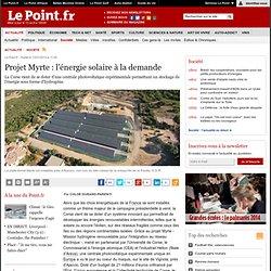 Projet Myrte : l'énergie solaire à la demande