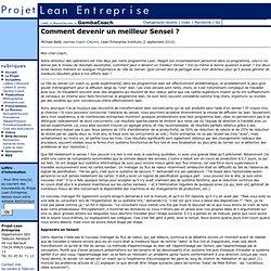 Projet Lean Entreprise - GembaCoach