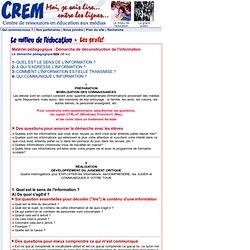 CREM -Le projet expérimental - 150 questions...