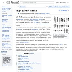 Projet génome humain
