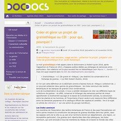 Créer et gérer un projet de grainothèque au CDI : pour qui, pourquoi ?