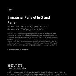S'imaginer Paris et le Grand Paris