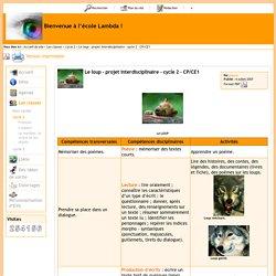 Le loup - projet interdisciplinaire - cycle 2 - CP/CE1