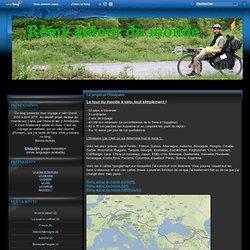 Le projet et l'itinéraire - Rémy autour du monde