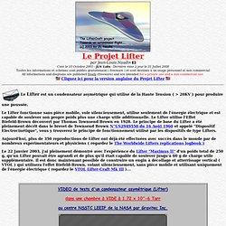 Le projet Lifter par Jean-Louis Naudin