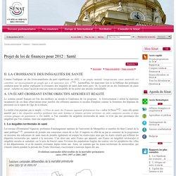 Projet de loi de finances pour 2012 : Santé