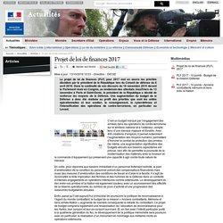 Projet de loi de finances 2017 - defense.gouv.fr