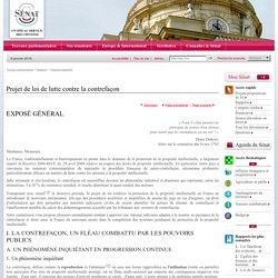 Projet de loi de lutte contre la contrefaçon