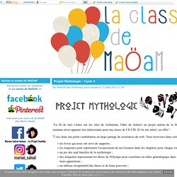 Projet Myhtologie - Cycle 3 - La classe de MaoaM