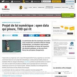 Projet de loi numérique : open data qui pleure, THD qui rit - Club Techni.Cités