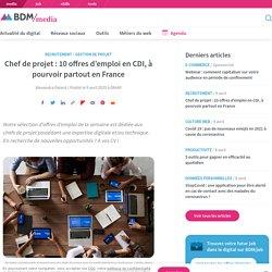 Chef de projet : 10 offres d'emploi en CDI, à pourvoir partout en France