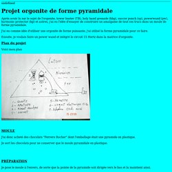 Projet orgonite sous forme pyramidale