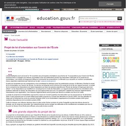 Projet de loi d'orientation sur l'avenir de l'École