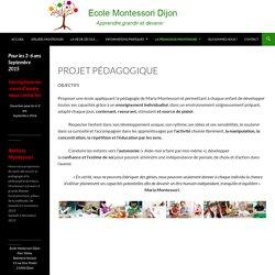 Projet pédagogique -