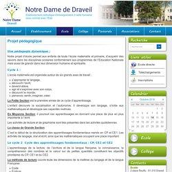 Projet pédagogique - Notre Dame de Draveil