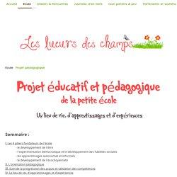 Projet pédagogique - Les lueurs des champs