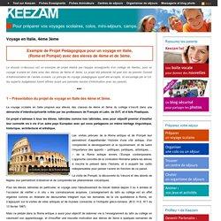 Projet Pédagogique - Voyage scolaire en Italie - 4ème 3ème l Keezam