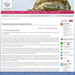 Projet de loi relatif aux musées de France