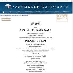 N°2669 - Projet de loi relatif au renseignement