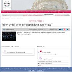 Projet de loi pour une République numérique- Sénat