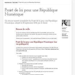 Projet de loi pour une République Numérique