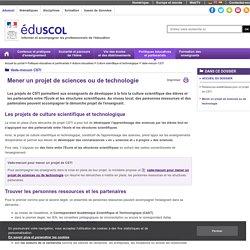 Vade-mecum CSTI - Mener un projet de sciences ou de technologie